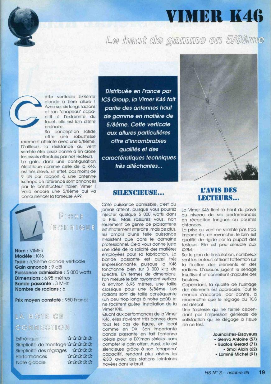 CB Connection - HS Spécial Antenne Fixes (Octobre 1995) Image311