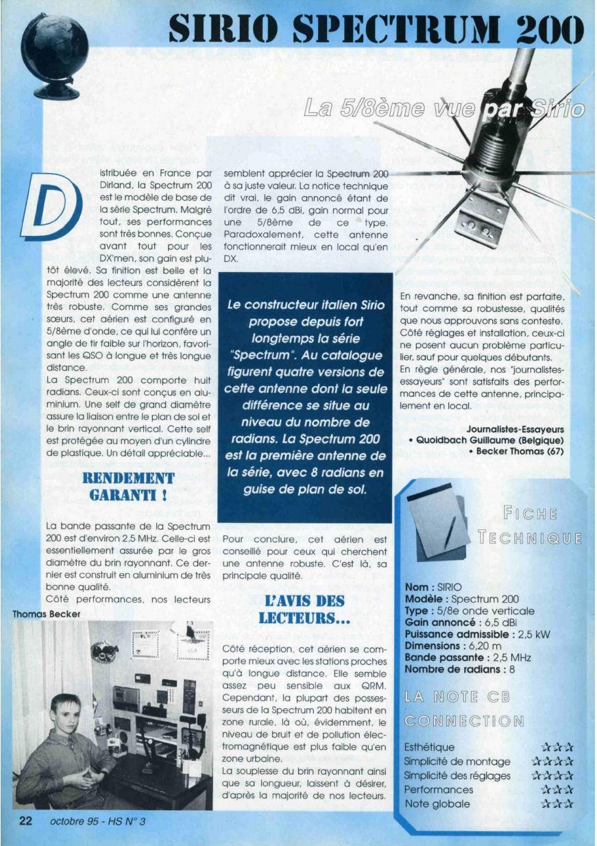 CB Connection - HS Spécial Antenne Fixes (Octobre 1995) Image314