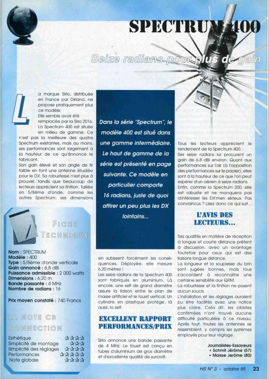 CB Connection - HS Spécial Antenne Fixes (Octobre 1995) Image410