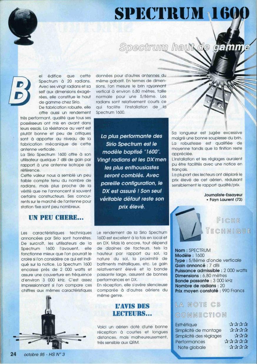 CB Connection - HS Spécial Antenne Fixes (Octobre 1995) Image411