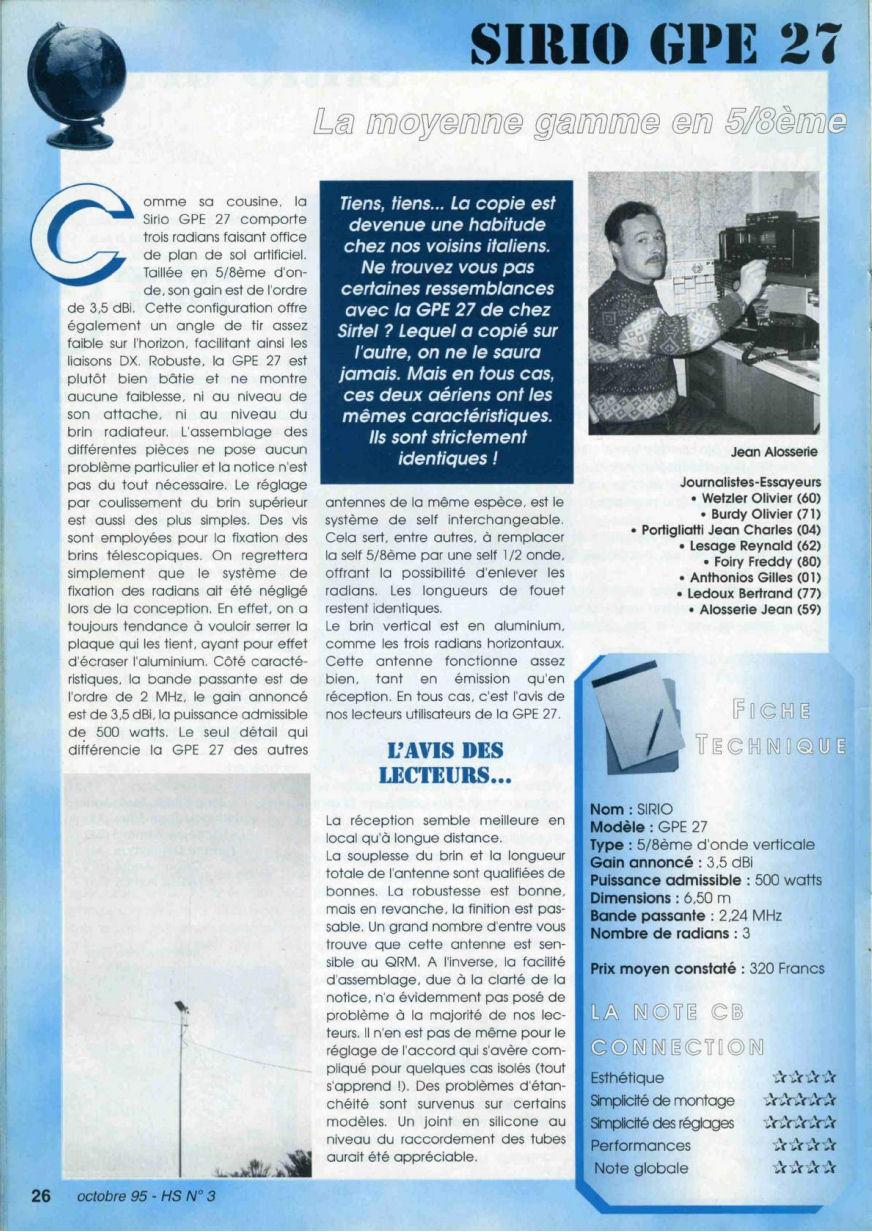 CB Connection - HS Spécial Antenne Fixes (Octobre 1995) Image413