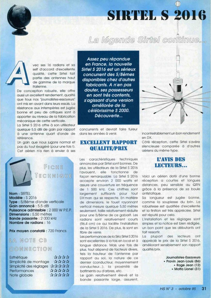 CB Connection - HS Spécial Antenne Fixes (Octobre 1995) Image513