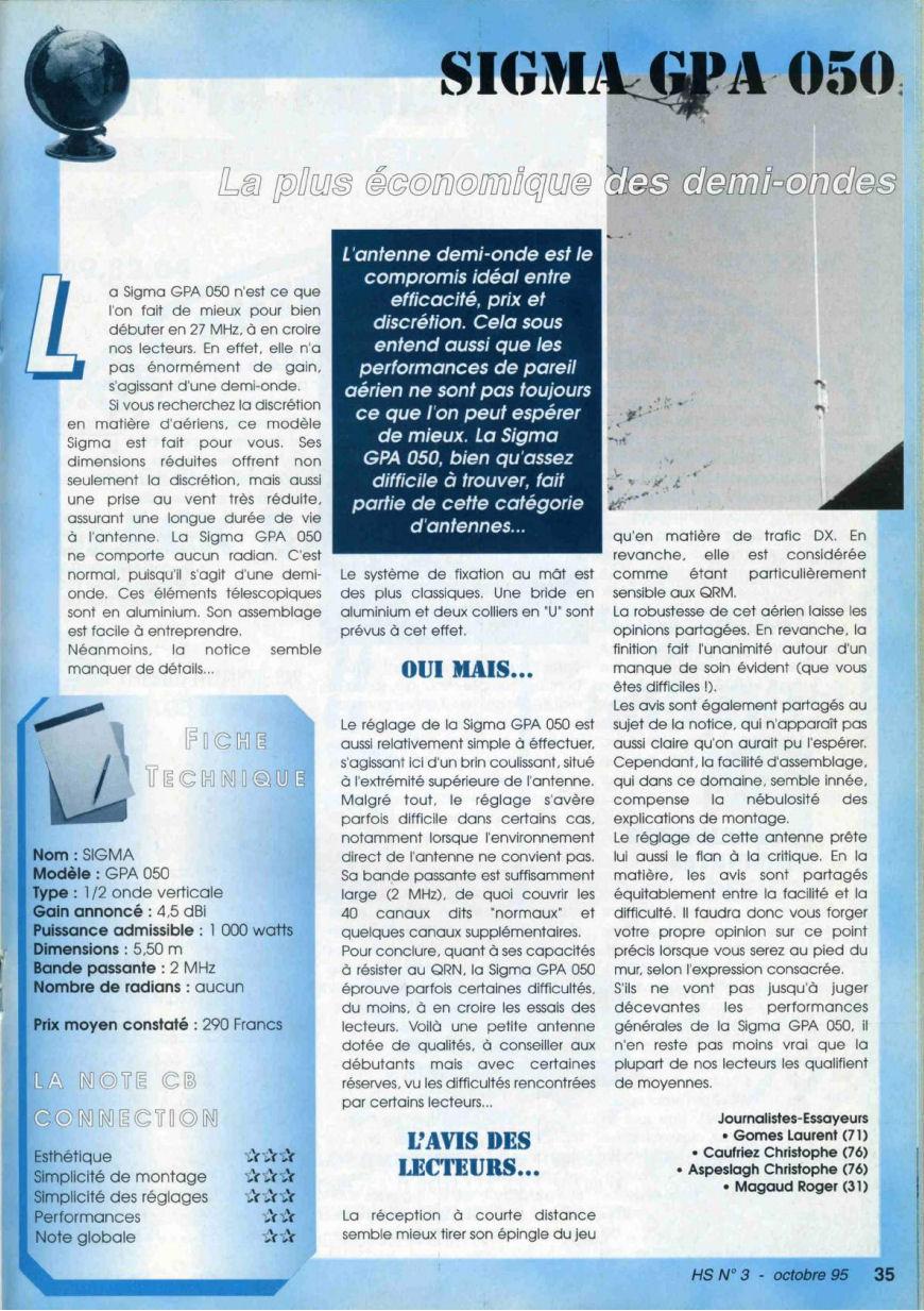 CB Connection - HS Spécial Antenne Fixes (Octobre 1995) Image612