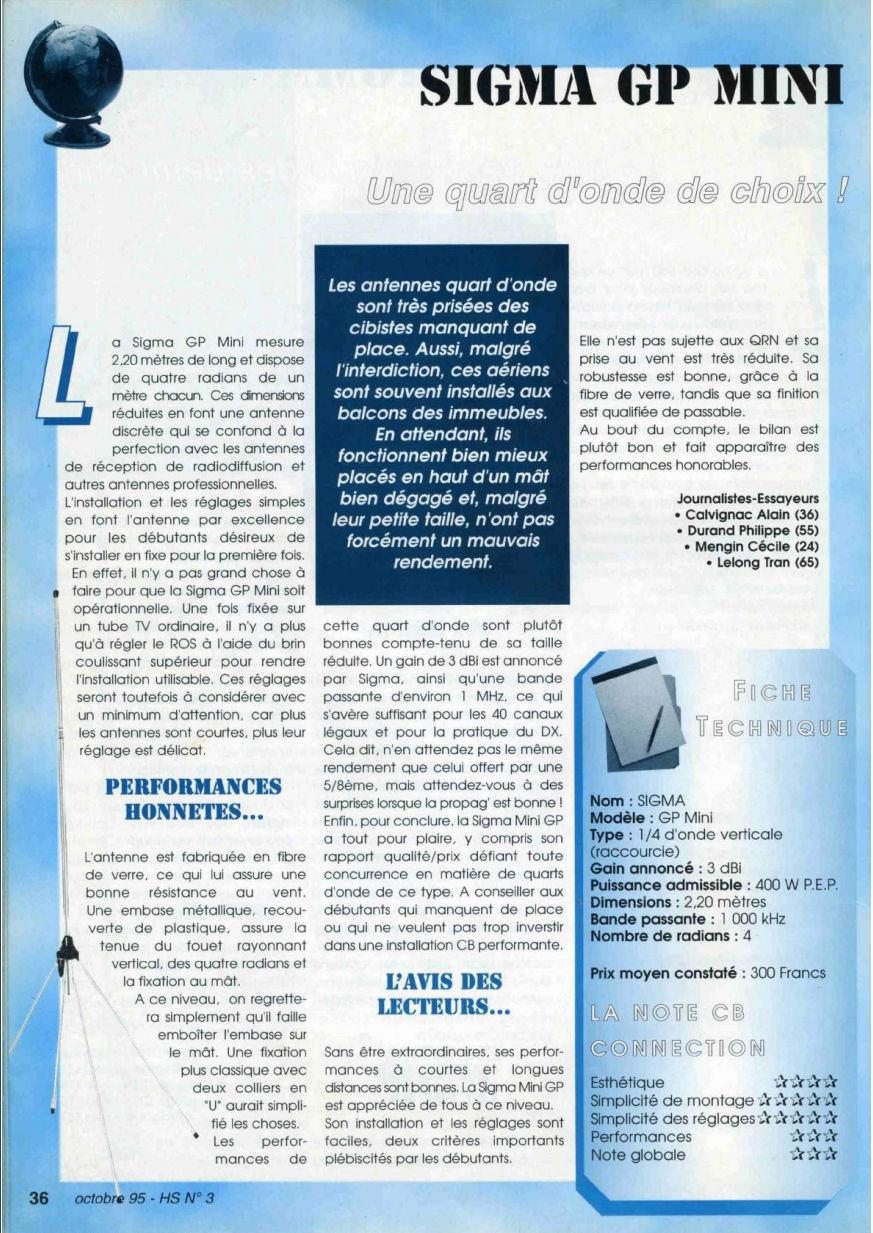 CB Connection - HS Spécial Antenne Fixes (Octobre 1995) Image617