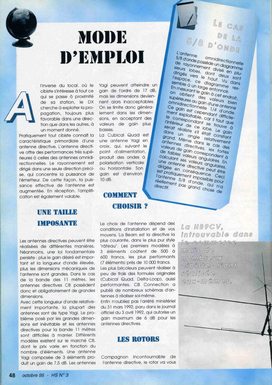 CB Connection - HS Spécial Antenne Fixes (Octobre 1995) Image911