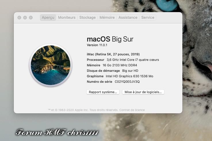 macOS Big Sur 11.0.1 (20B29) Finale version Captur11