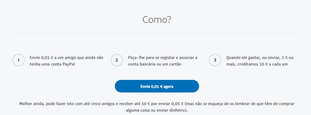 Oportunidade:[TESTAR] ganhe dinheiro (10€) convidando amigos para o Paypal [terminado] Paypal10
