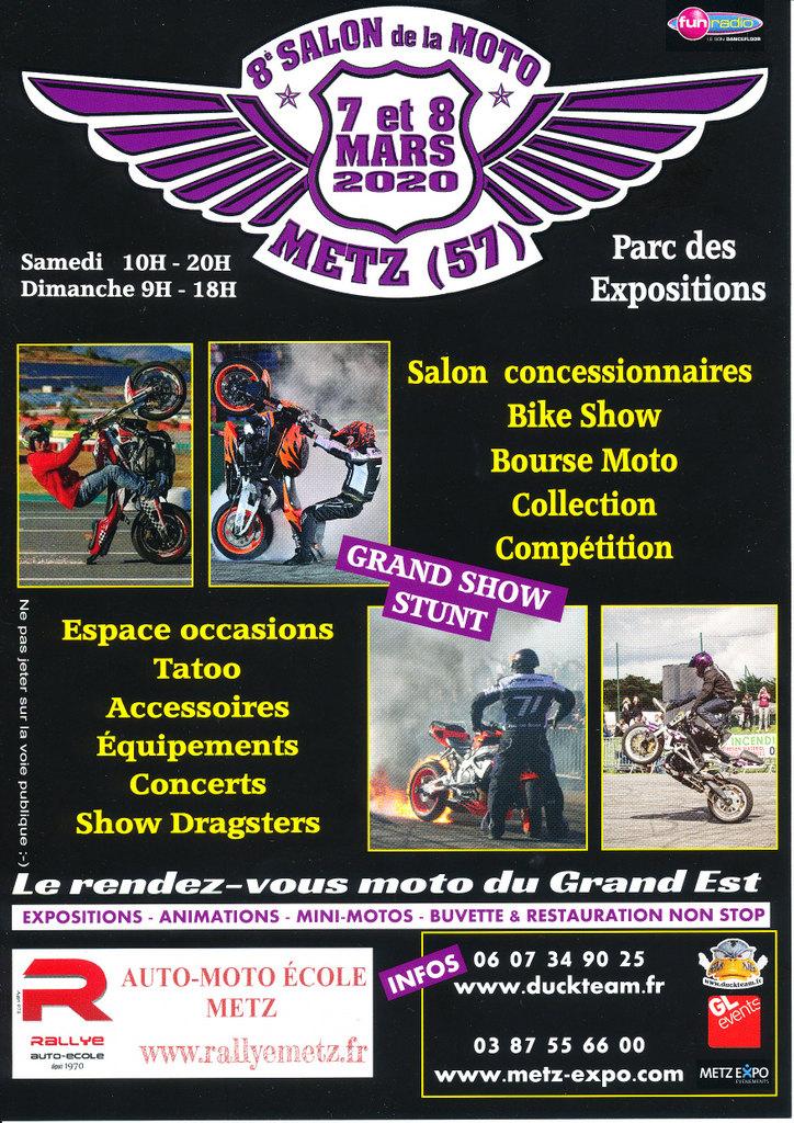 Salon de la moto Metz Affich10