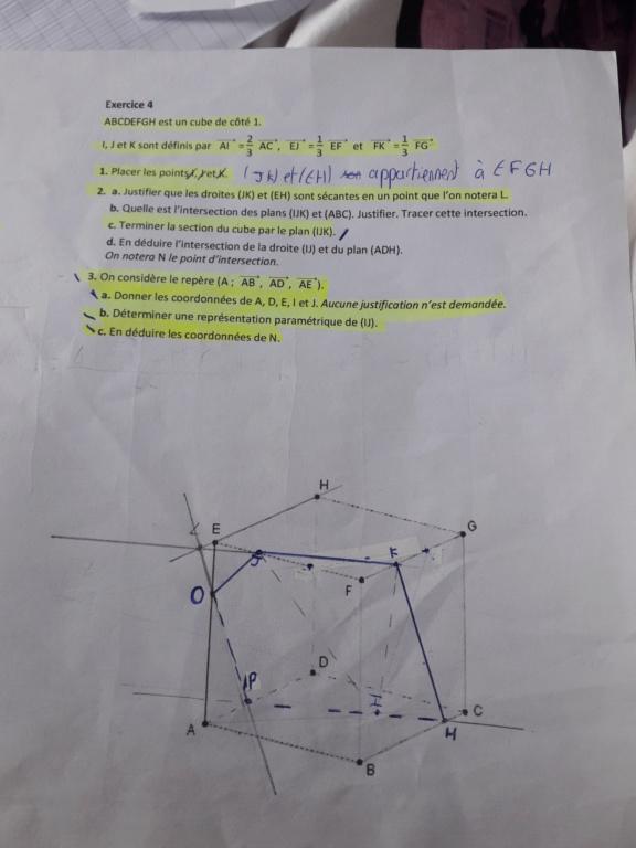 Géométrie dans l'espace  20200212