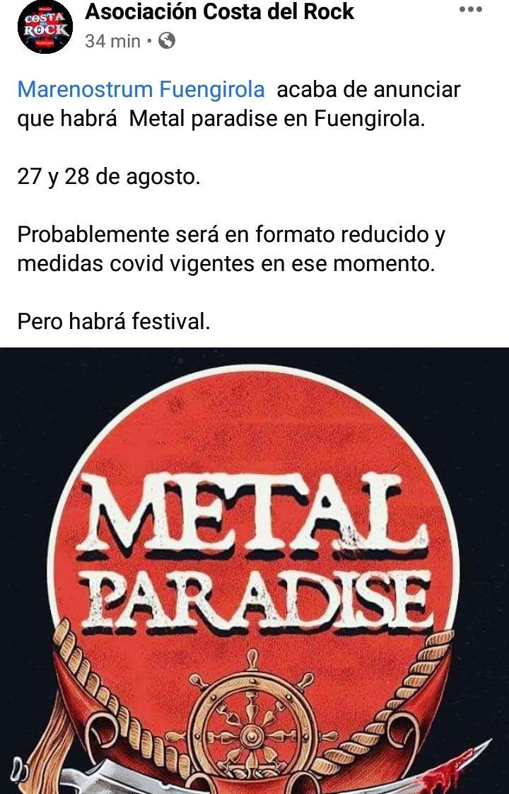 METAL PARADISE FEST - 28 y 29 de AGOSTO'21 (sí, ESTE agosto!!) en Fuengirola: Kreator, Destruction, The Ocean, Eluvietie, Krisix.... - Página 12 C22b1e10