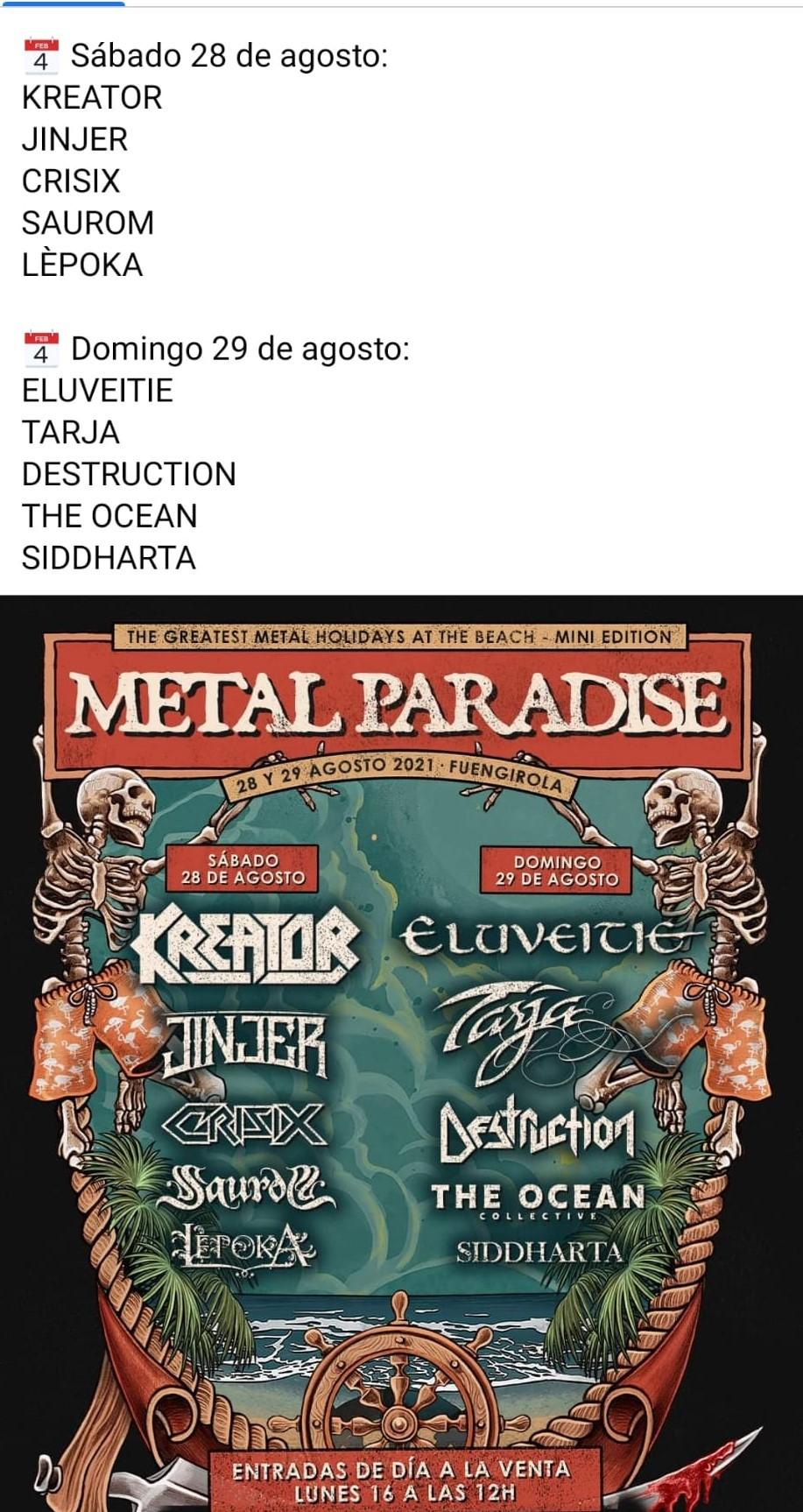 METAL PARADISE FEST - 28 y 29 de AGOSTO'21 (sí, ESTE agosto!!) en Fuengirola: Kreator, Destruction, The Ocean, Eluvietie, Krisix.... - Página 13 Photo-12