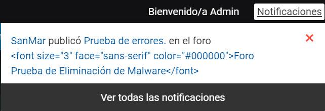 Se ve el código  en las notificaciones y mails en lugar del Titulo del Foro 510