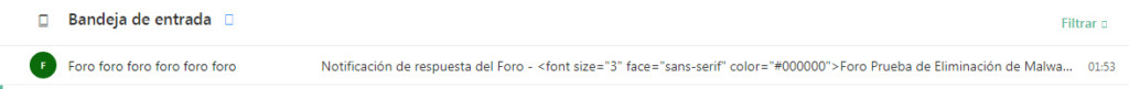 Se ve el código  en las notificaciones y mails en lugar del Titulo del Foro 710