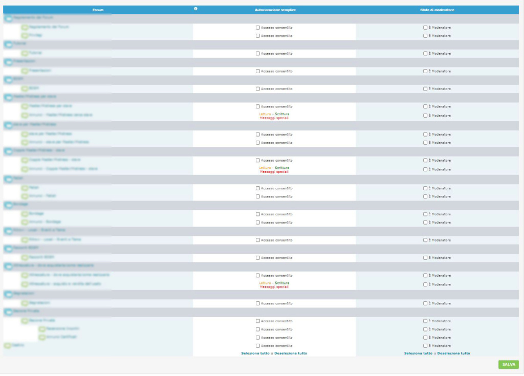 Iscrizione utenti e creazione nuovo gruppo Permes10