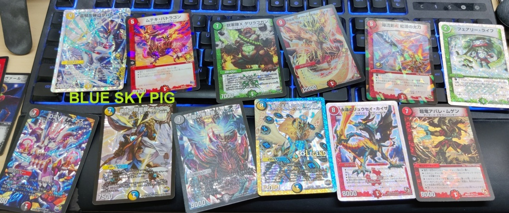 hello i have a stack of glittery duel masters cards but i have no idea at all what they are worth Img_2010