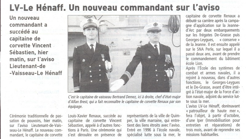 LIEUTENANT DE VAISSEAU LE HENAFF (AVISO) - Page 2 Henaff11