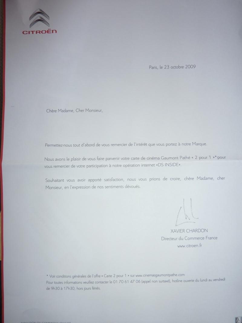 [Information] Citroen et l'offre cinema Gaumont 1 pour 2 P1020011
