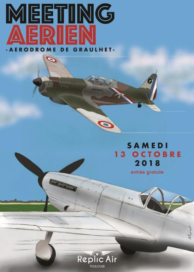 Meeting aériens du sud-ouest, base Francazal (31)  Sam 29 & Dim 30 Septembre + Graulhet (81) 13 octobre 2018 Affich10