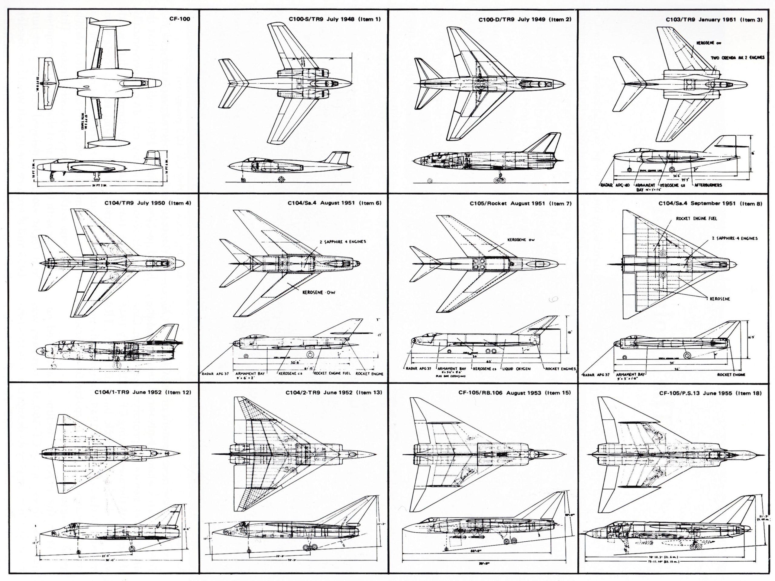 Moule maîtresse du AVRO CF-105 ARROW au 1/48 ! Cf-10010