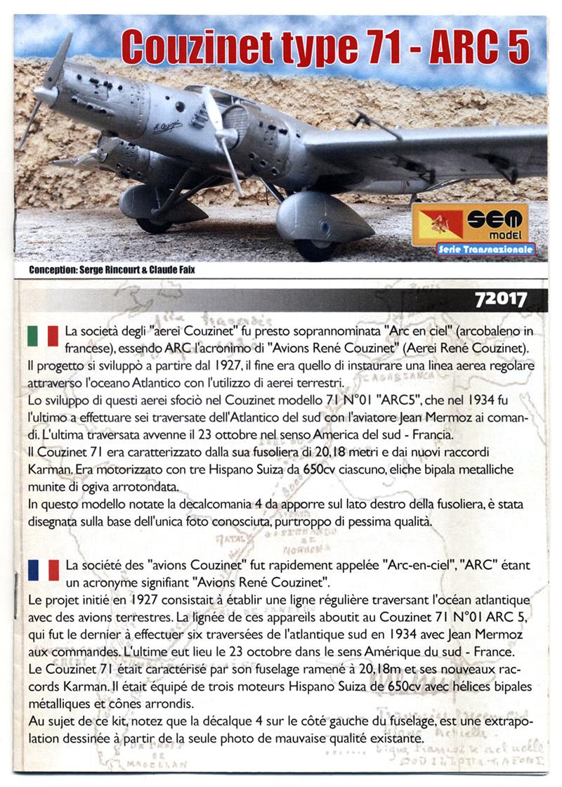 """Couzinet type 71 ARC-5 """"L'avion de Mermoz"""" (1:72, SEM model) Couzin18"""