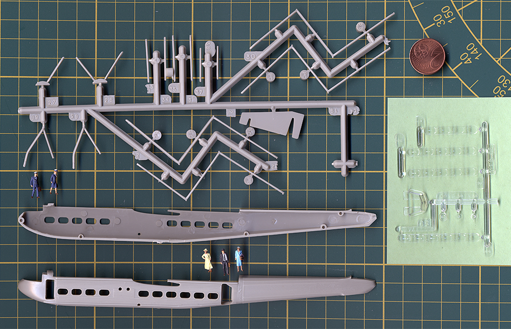 "Handley-Page H.P.42 ""Heracles"", Airfix (1965), 1/144ème. Fusela10"
