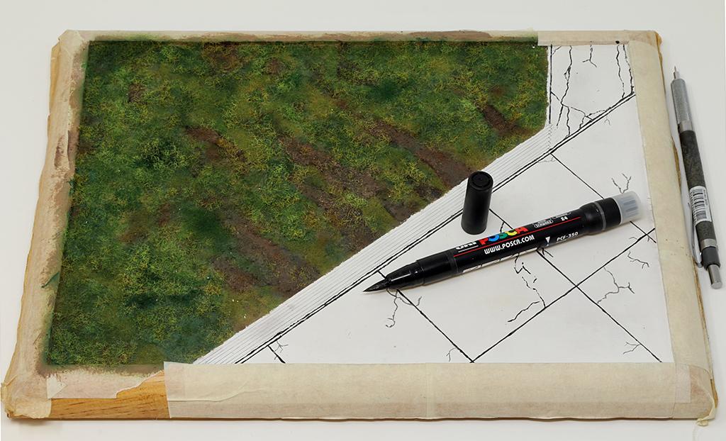 "Diorama, base ""Dessau Luftwaffe hardstand"" deluxe edition (Uschi 1/72) Img_7836"
