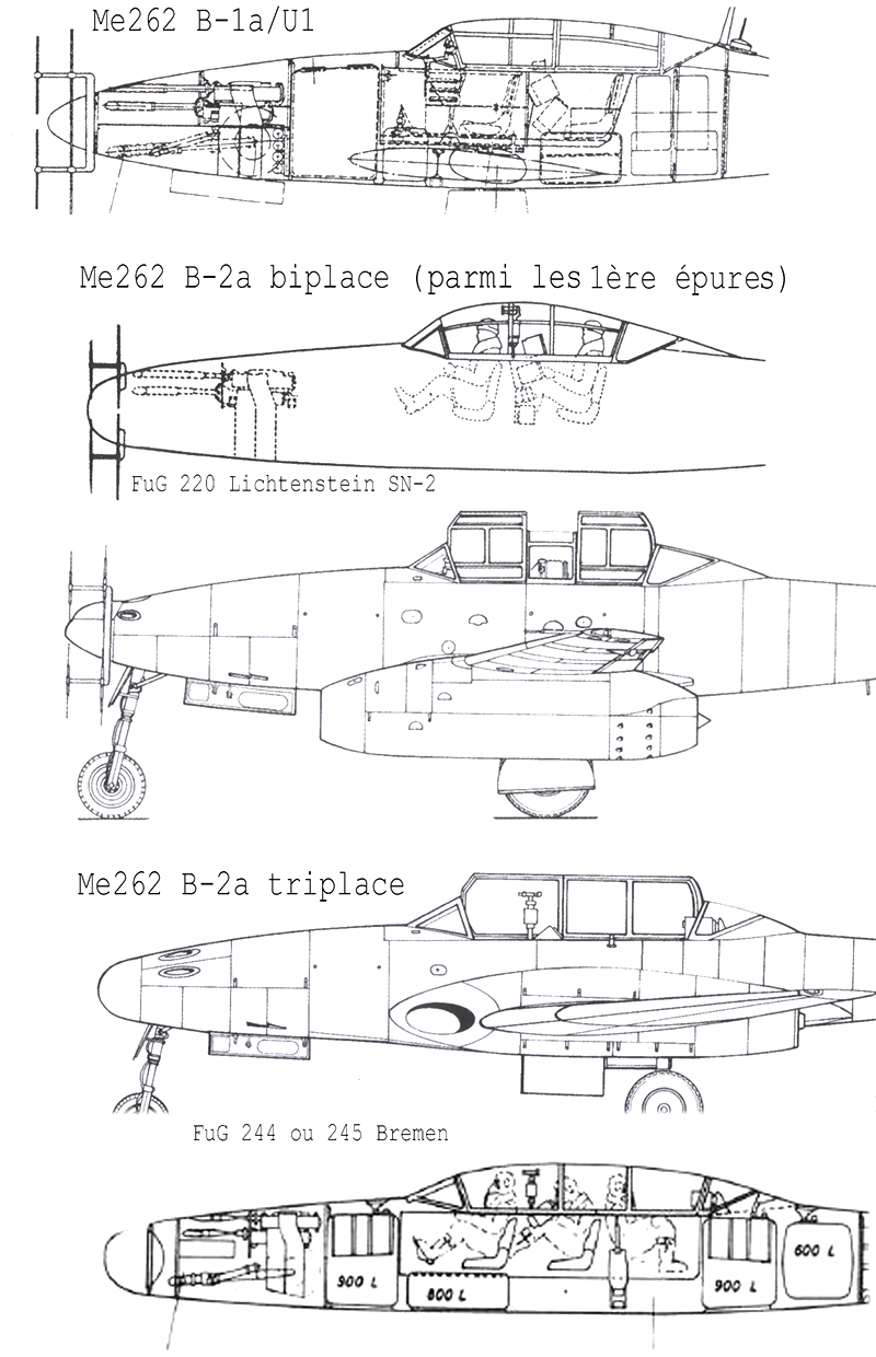 "Messerschmitt Me.262 B-2a ""Three-seat night fighter"" (Special Hobby #72006) Profil14"