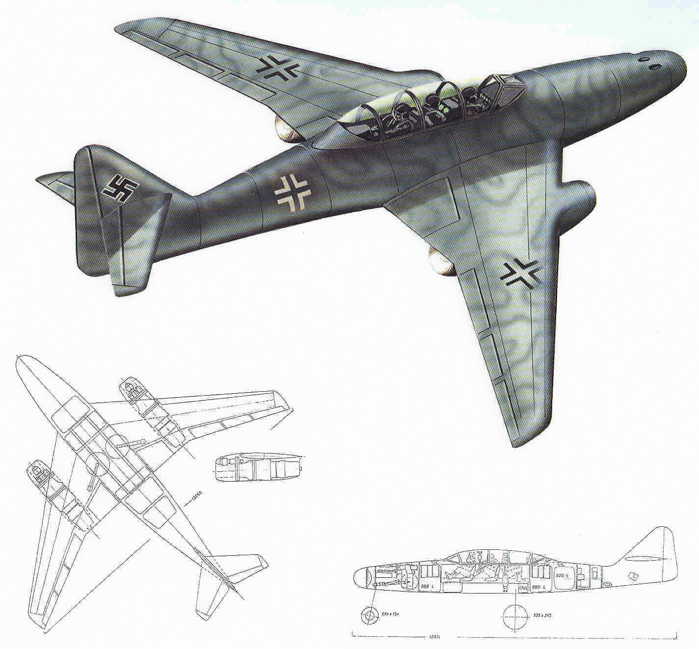 "Messerschmitt Me.262 B-2a ""Three-seat night fighter"" (Special Hobby #72006) Projet10"