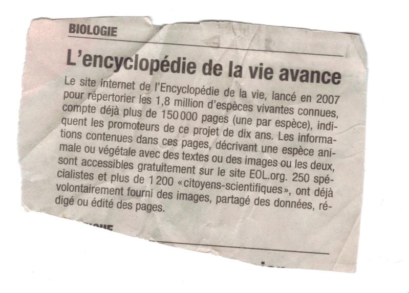 Encyclopédie de la vie Encycl10