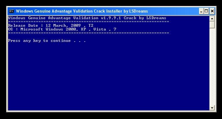 Windows Genuine Advantage Validation v1.9.9.1 Pic10