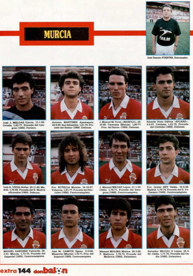 REAL MURCIA 89-90 Murcia23