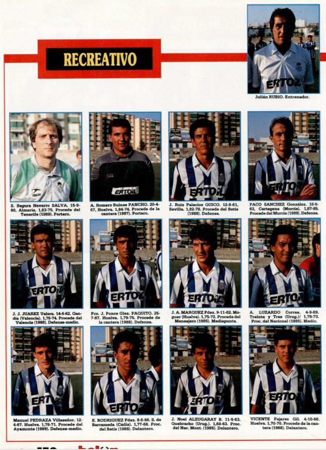 RECREATIVO DE HUELVA 89-90 Recre13