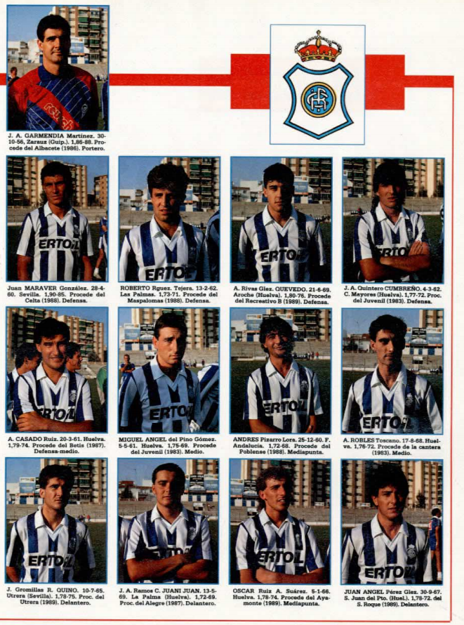 RECREATIVO DE HUELVA 89-90 Recre14