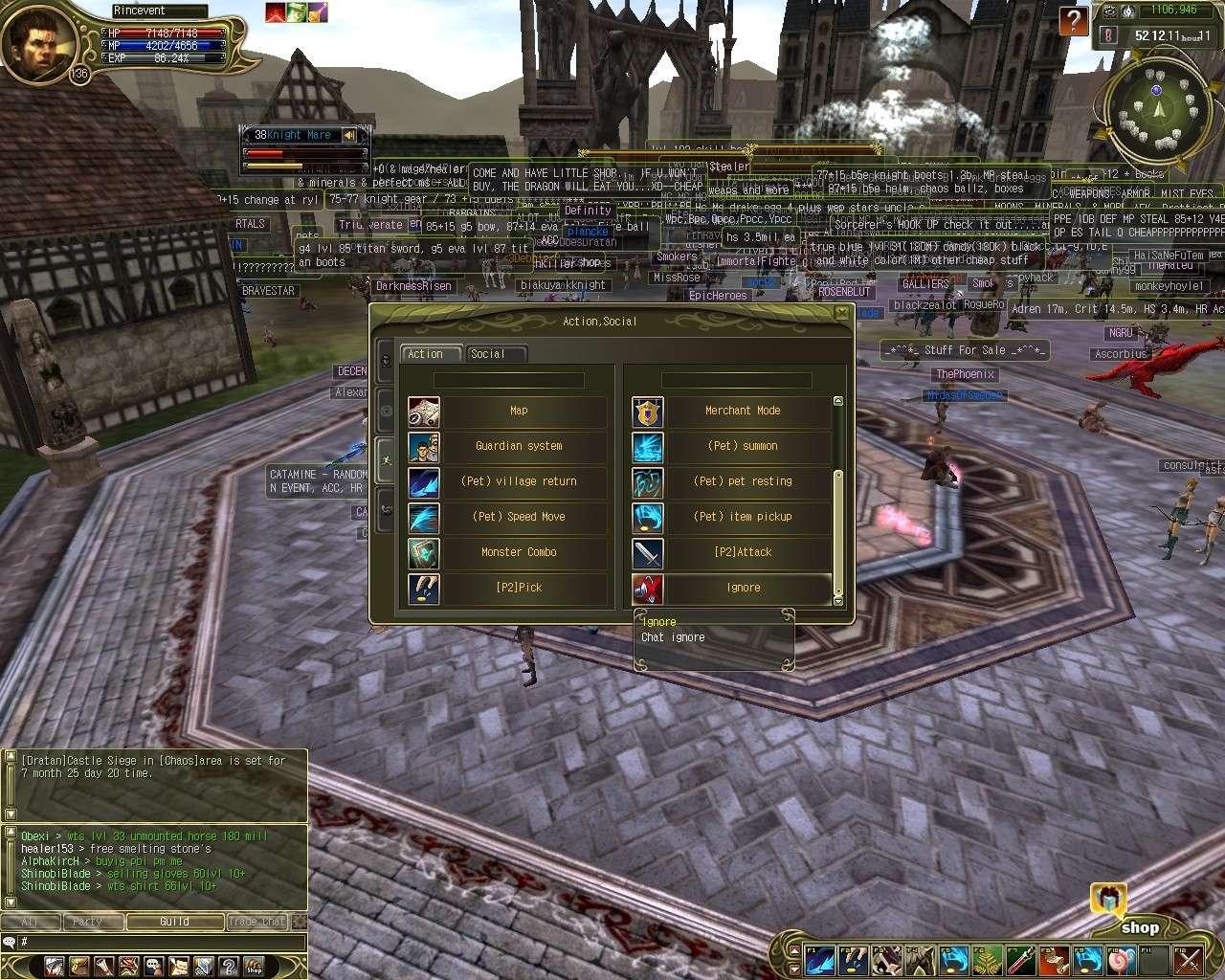 Nouveautées dans l'interface Shot0711