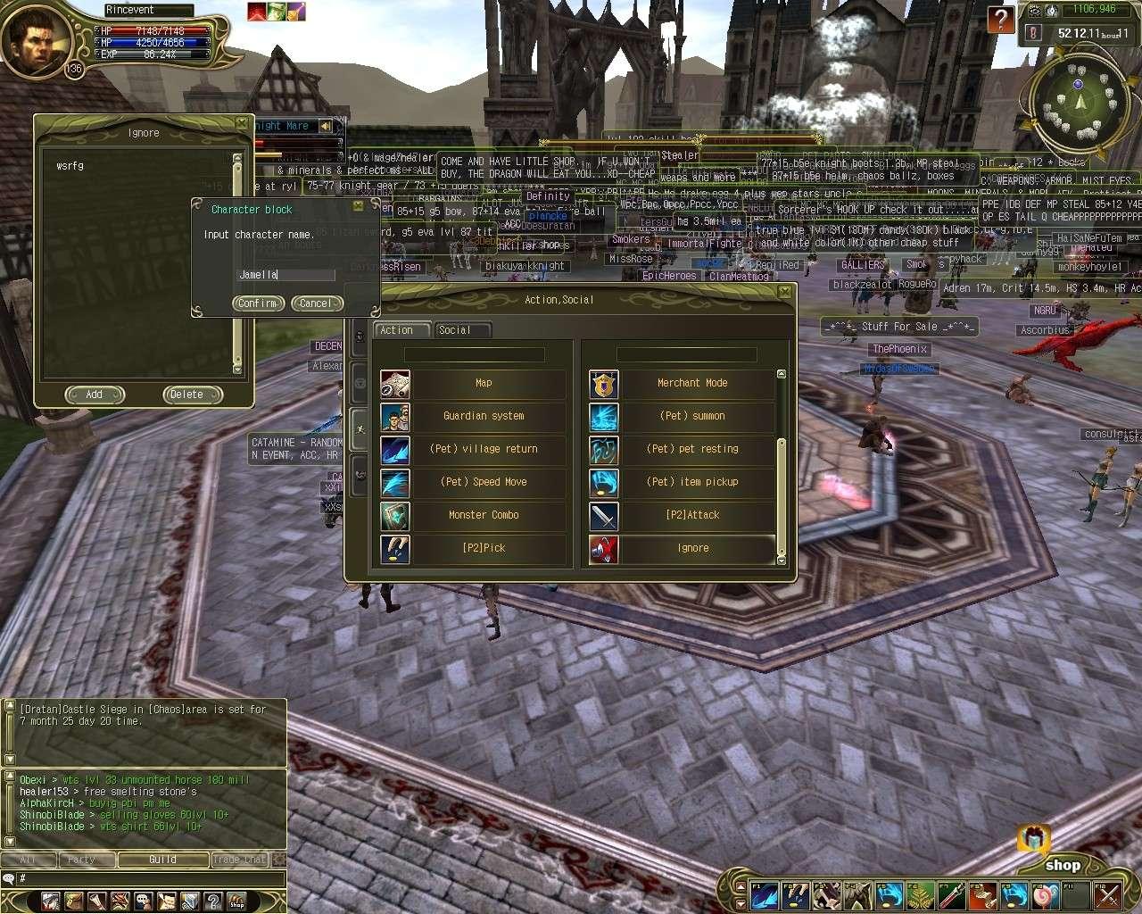 Nouveautées dans l'interface Shot0712
