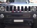 Pose d'un lettrage chromé sous la calandre un Hummer H3 Photo_64