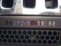 Pose d'un lettrage chromé sous la calandre un Hummer H3 Photo_66