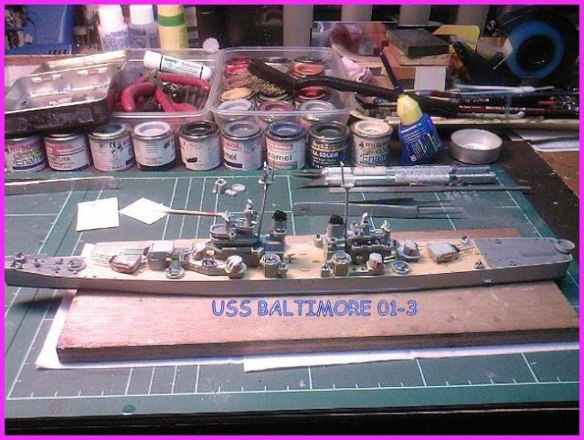 LE USS BALTIMORE CA-68 DE CHEZ TROMPETER AU 700 Uss_ba11