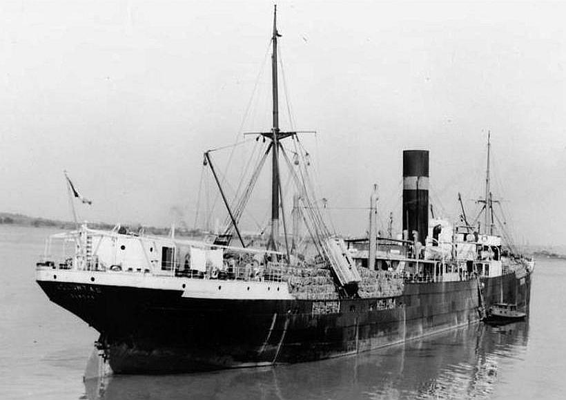 GANELON  navire allemand capturé à Anvers en 1914 Ganelo10