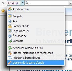 Barre d'outils TSGE. Tuto Clipbo83
