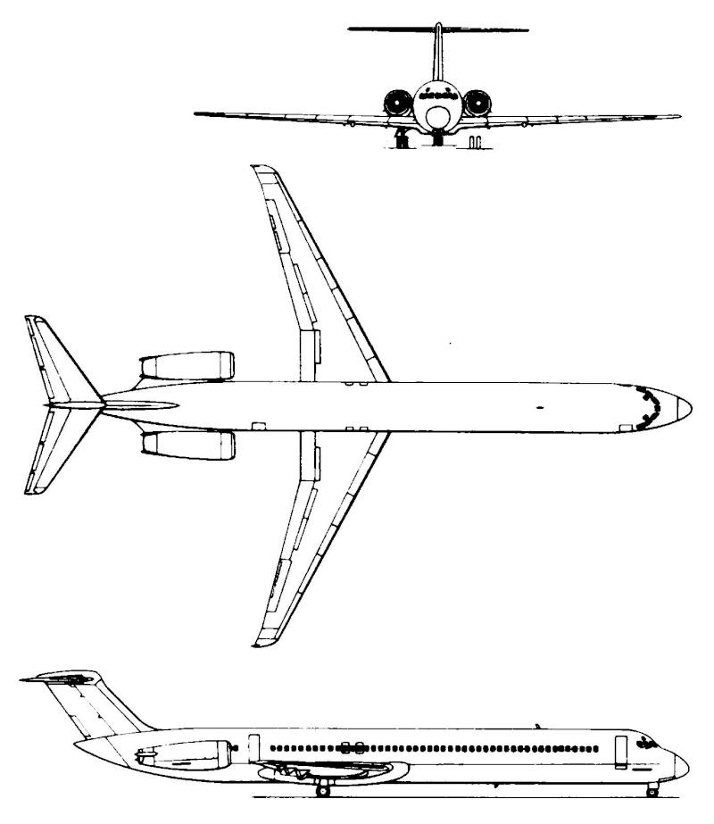 Un avion survolant un bateau - Arabie Saoudite Md-80j10