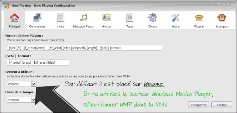 """Personnaliser la fonction """"ce que j'écoute"""" de MSN 12393710"""