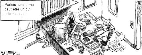Il tire sur son ordinateur récalcitrant Inform10