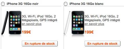 iPhone 16Go en rupture de stock chez Orange Ruptur10