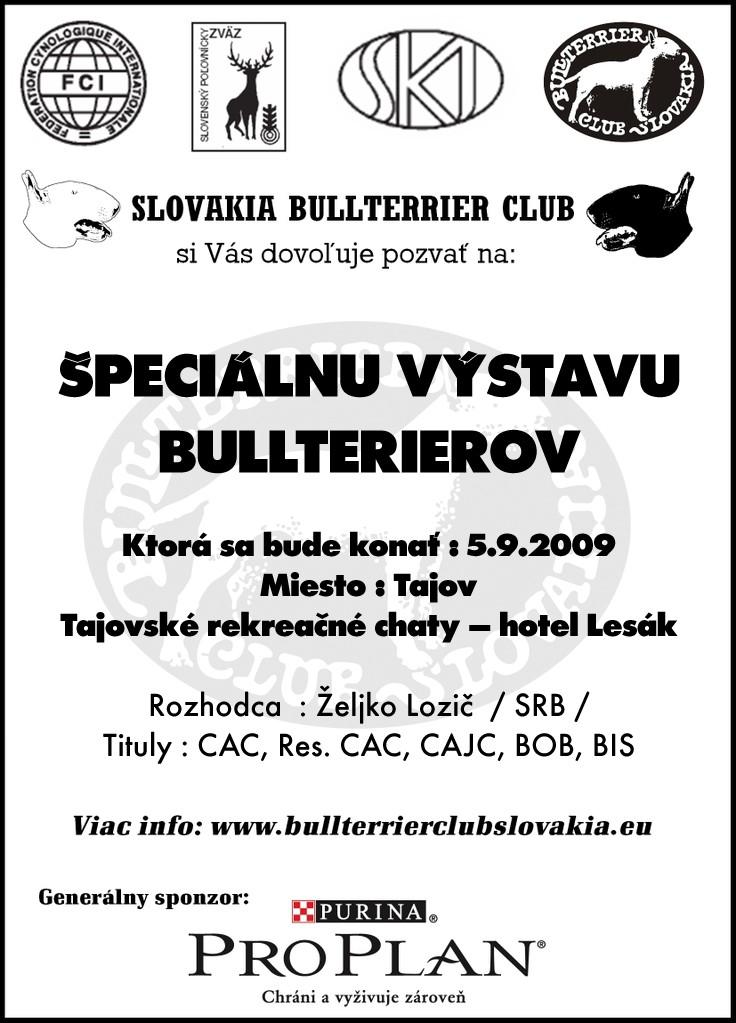 Špeciálna výstava bullterrierov - 5.9.2009 - Tajov Vystav10