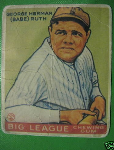 Another real or fake - '33 Goudey Ruth? Goudey10