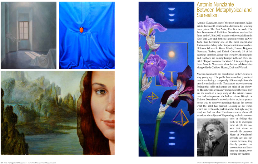 NUNZIANTE su Arts Management Magazine Amm110