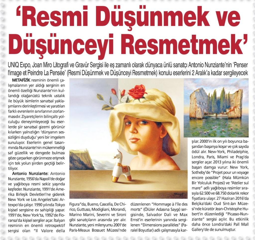 Nunziante, Picasso, Mirò, UNIQ MUSEUM, ISTANBUL 2/10 - 2/12/2018 Dokuzs10