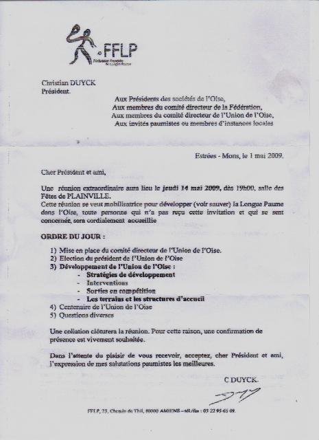 Mobilisation pour l OISE Convoc10