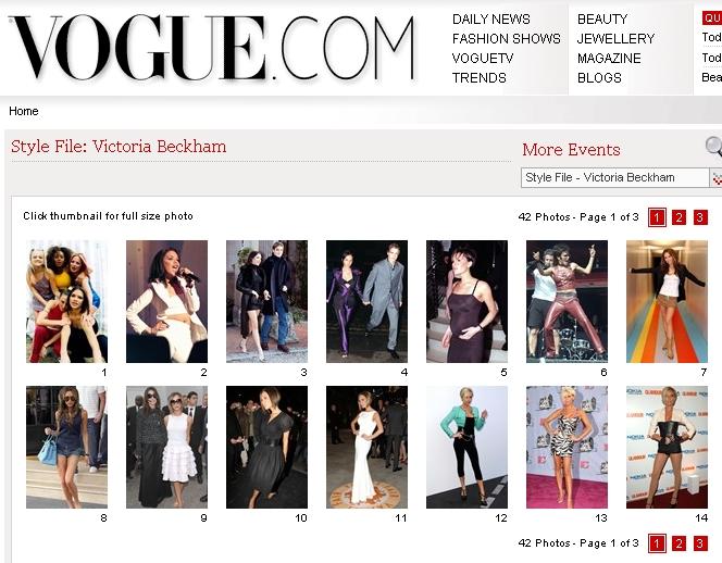 Vogue UK. Jul '09 sección dedicada en la website Vogue_11